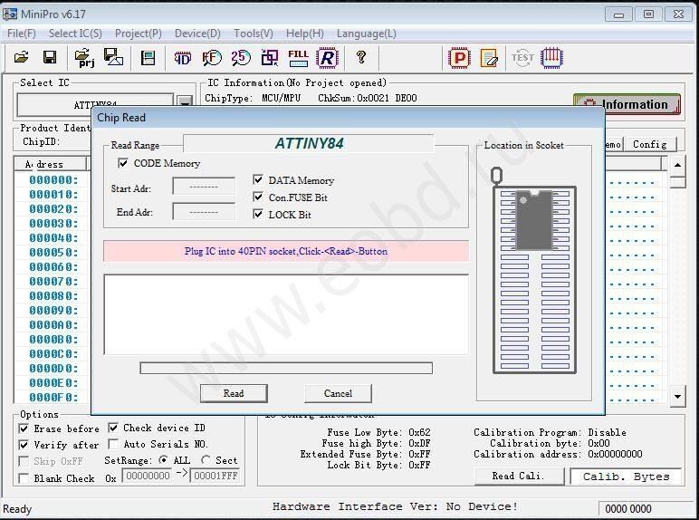 Программатор MiniPro TL866A RUS с полным набором адаптеров