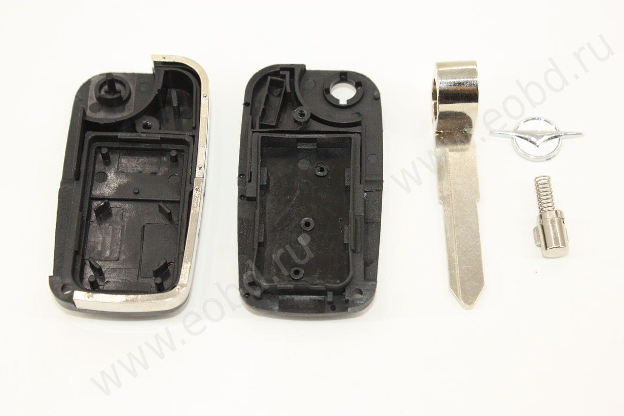 Заготовка выкидного ключа Mazda (Мазда) без чипа иммобилайзера и платы