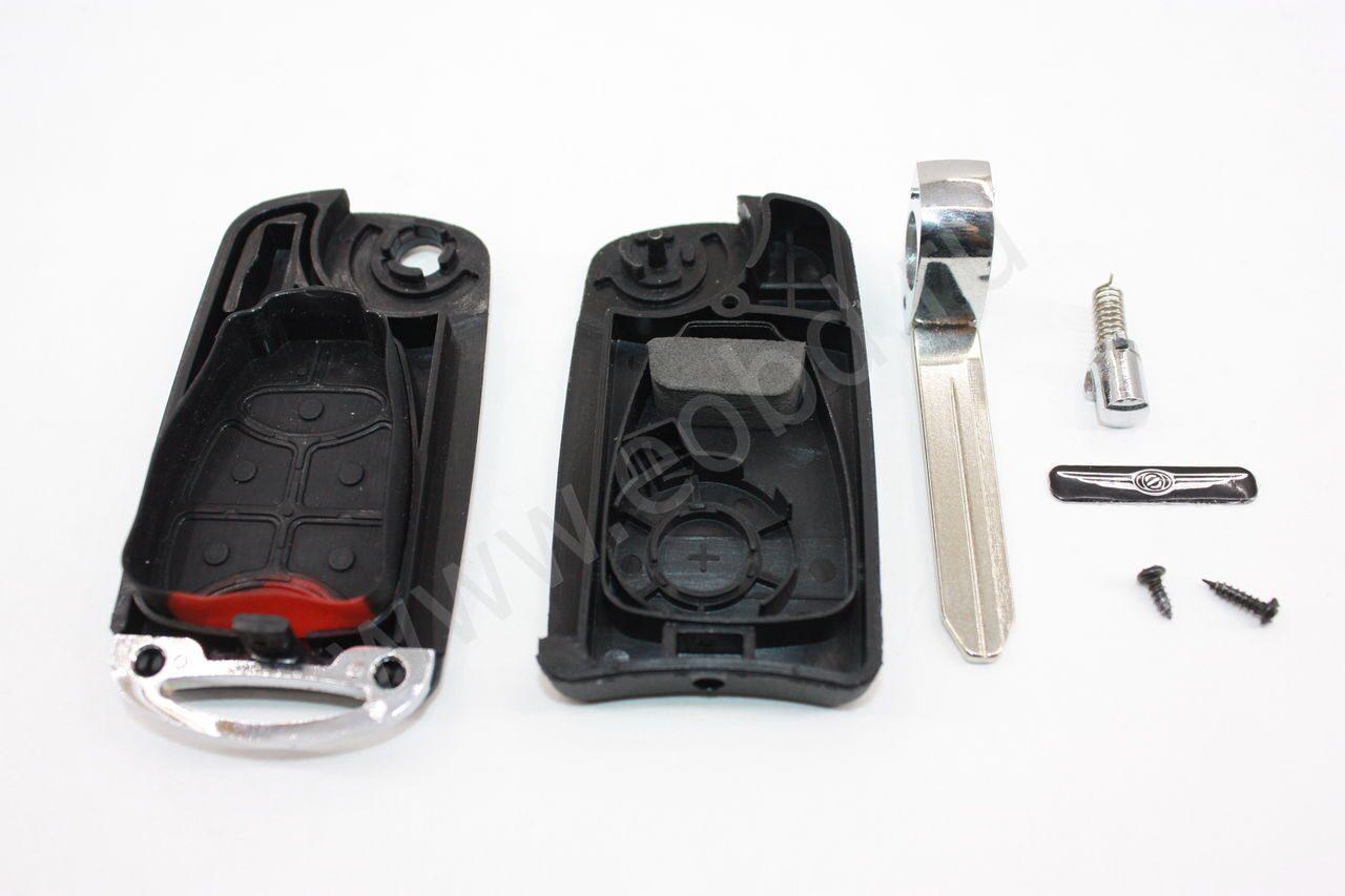 Заготовка выкидного ключа Chrysler (Крайслер) без чипа иммобилайзера и